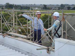埼玉県川越市 川木建設 建災防現場パトロール 安全管理状況の説明