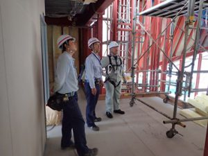 埼玉県川越市 川木建設 建災防現場パトロール 安全管理状況の視察