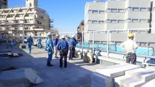 建設業労働災害防止協会 安全パトロール 川木建設現場視察